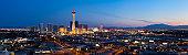 Aerial Panoramic View of Las Vegas at Dusk