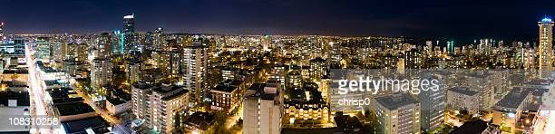 Aerial Panoramic View of Vancouver at Night (XXXL)
