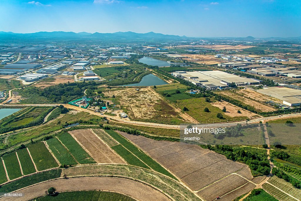 Aerial Photo Farming Agriculture and Land Development : Stock Photo