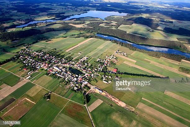 photo aérienne de Brzezno Szlacheckie village