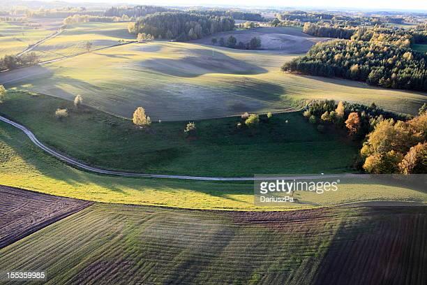 photo aérienne des terres agricoles