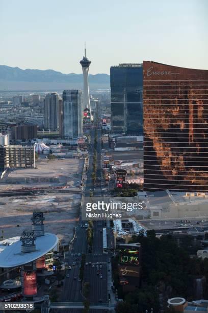 Aerial photo of Las Vegas looking North