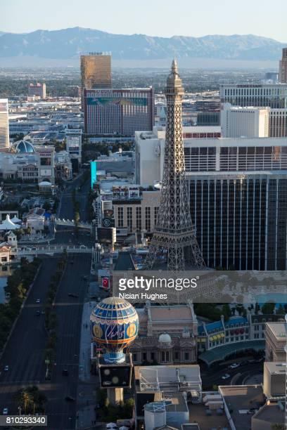 Aerial photo of Las Vegas Strip looking North, Daytime