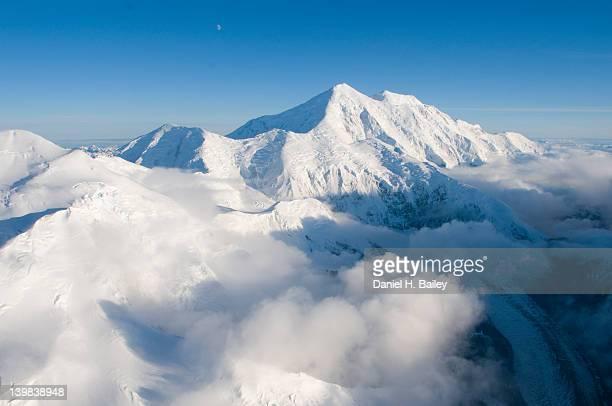 Aerial photo of Mt. Foraker, Alaska Range, Denali National Park, Alaska, USA
