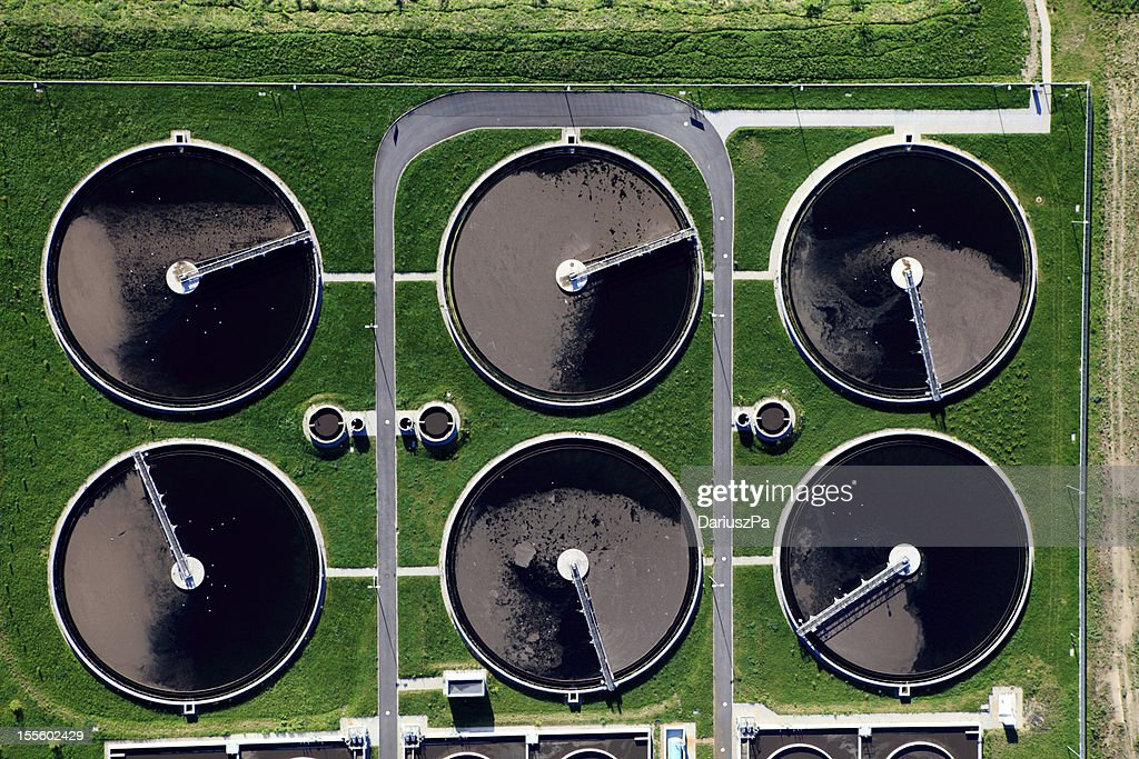 Aerial photo of Sewage Treatment Plant