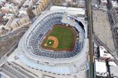 Aerial photo of the new Yankee Stadium