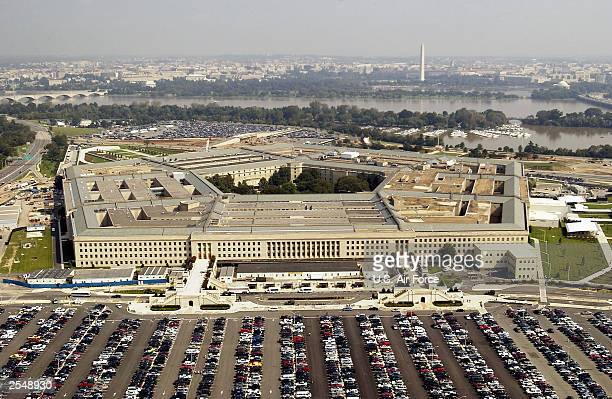Aerial photo of the Pentagon in Arlington Virgina on September 26 2003