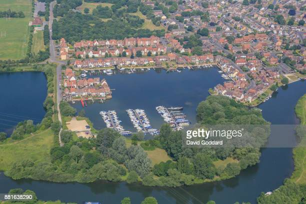 KINGDOM JUNE 2017 Aerial photograph of Abingdon Marina on June 21st 2017 Located on the western side of the River Thames 7 miles southwest of Oxford