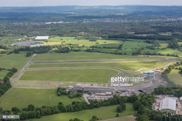 KINGDOM MAY 2017 Aerial photograph of Fairoaks Airport on May 24th 2017 This ex RAF airfield dates to 1931 it is located 2 miles to the north of...