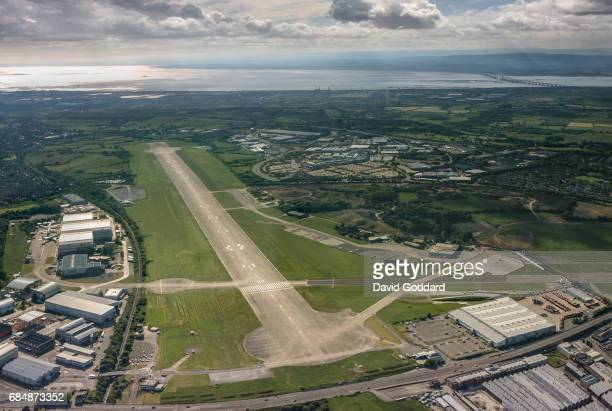BRISTOL ENGLAND JUNE 02 Aerial photograph of Filton airport located between Stoke Gifford and the M5 motorway to the north of Bristol City centre on...