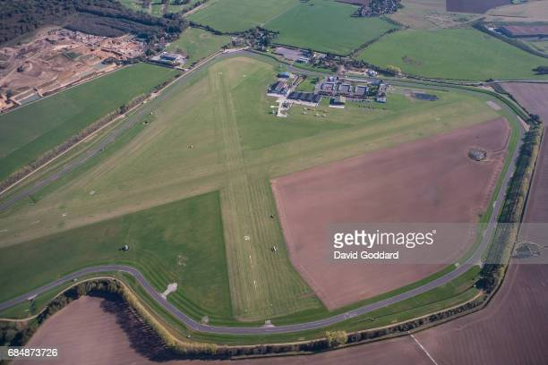SUSSEX ENGLAND OCTOBER 20 Aerial photograph of Goodwood Airfield also known as Chichester aerodrome located two miles north east of Chichester at the...
