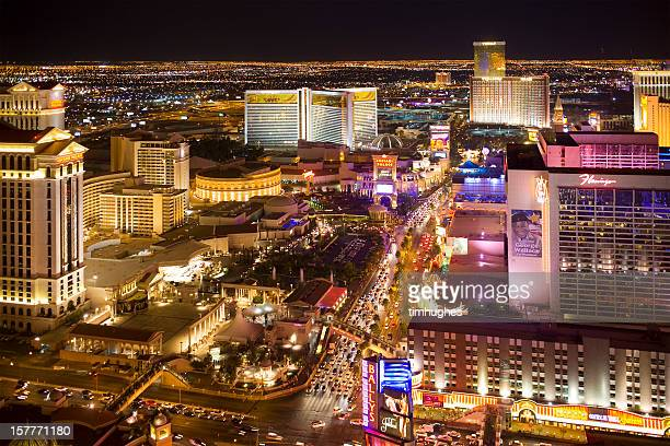 Aerial photograph of Las Vegas Blvd.