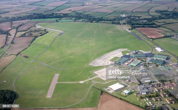 HAMPSHIRE ENGLAND SEPTEMBER 19 Aerial photograph of Middle Wallop Airfield Home of the Army Air Corps This Ministry of Defence site dates back to...