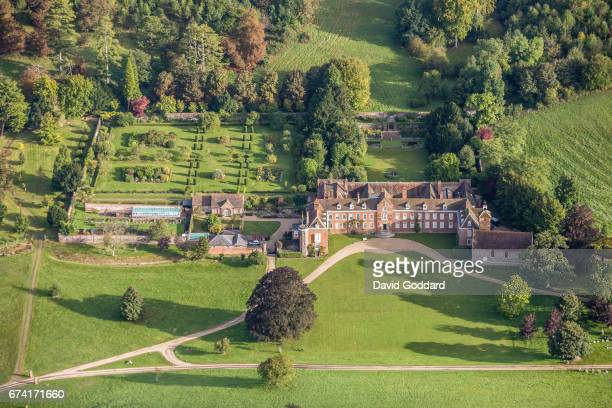 KINGDOM SEPTEMBER 26 Aerial photograph of Stoner Park home to the Stonor family for over 850 years on September 26 2010 This Italianate style Country...