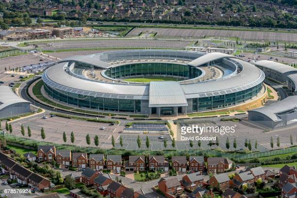 CHELTENHAM CHELTENHAM OCTOBER 07 Aerial photograph of the Government Communications Headquarters also known as GCHQ Cheltenham Gloucestershire
