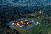 Aerial photograph of the Odiyan Buddhist Retreat Center in Sonoma County CA Unites States circa 1970s