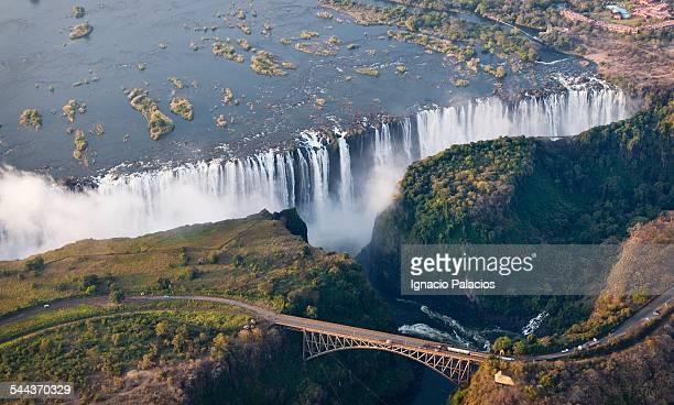 Aerial photograph of Victoria falls