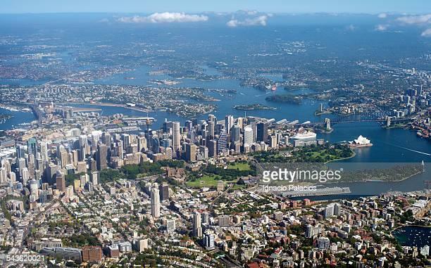Aerial photograph Sydney CBD