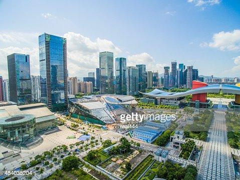 Aerial Photography China shenzhen Skyscraper