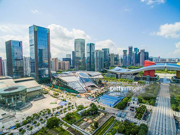 Aerial Photography China shenzhen Skyscraper