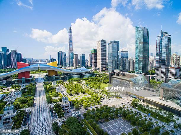 Fotografía aérea de China, shenzhen rascacielos