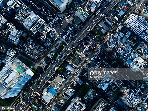 Aerial photography of Ginza