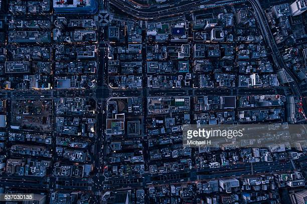 Aerial photography of Ginza,Tokyo