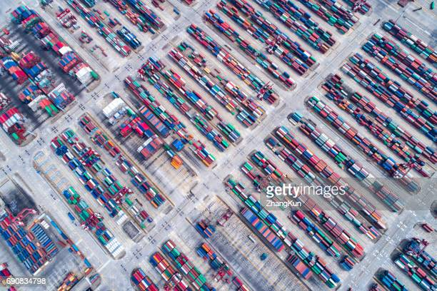 Aerial photography of harbors