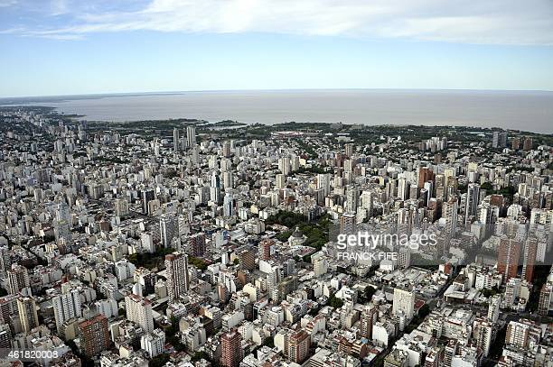 Aerial picture taken over Buenos Aires Argentina on January 3 2015 AFP PHOTO / FRANCK FIFE