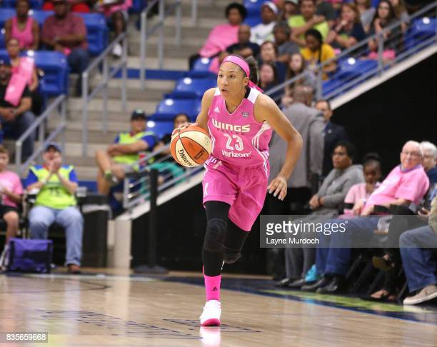 Aerial Powers of the Dallas Wings brings the ball up court against the Atlanta Dream on August 19 2017 at College Park Center in Arlington Texas NOTE...