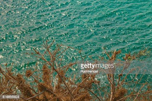 Aerial Seascape Scene Santa Elena Ecuador : Stock Photo