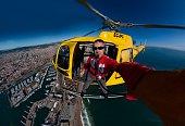 Aerial selfie Barcelona Spain