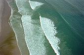 Aerial shot of a beach