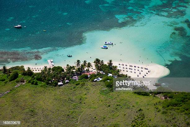 Vue aérienne de l'Îlet Pinel, français, FWI St.Martin