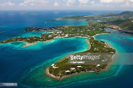 aerial shot of Red Hook area, St.Thomas, US Virgin Islands