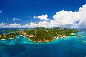 aerial shot of Red Hook, St. Thomas, US Virgin Islands