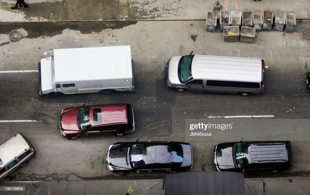 Traffic from above : Stock Photo