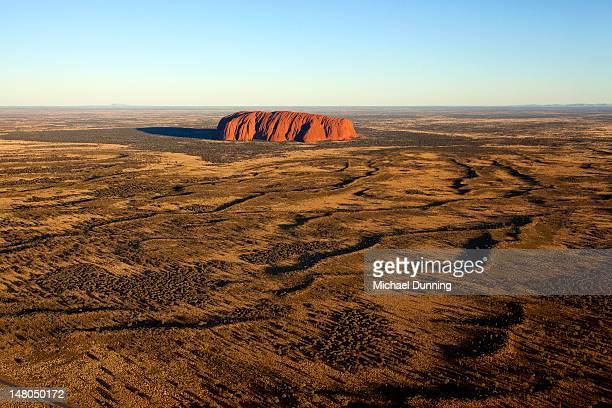 Aerial shot of Uluru, Ayers Rock, Australia