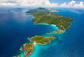 aerial shot of West End, St. Thomas, US Virgin Islands