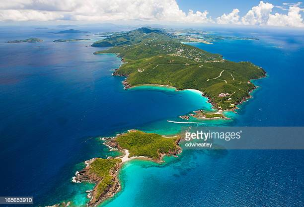 aerial shot of West End, St. Thomas, US Virgin Islands