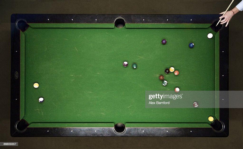 Aerial Shot Pool Table