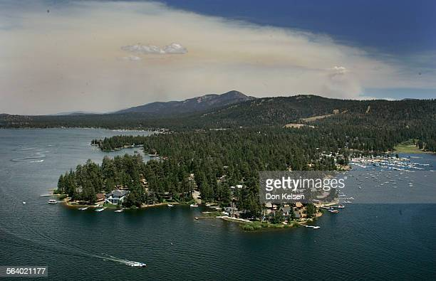 – – Aerial shots of Yucca fire as it heads in the direction of Big Bear Lake Firefighters struggled with desert winds and blistering heat Thursday as...