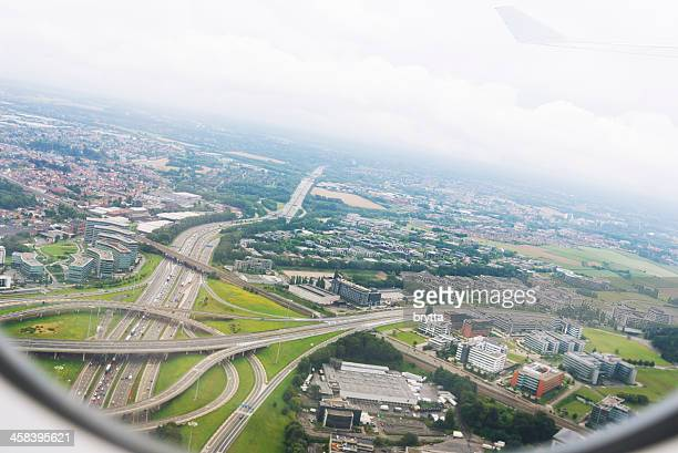 Aerial suburban view