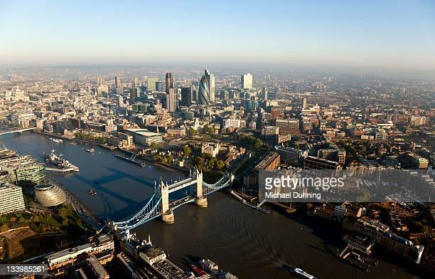 Aerial Tower Bridge, London, England