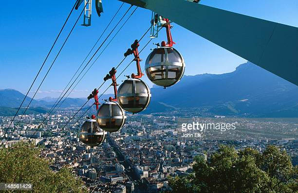 Aerial tramway from Fort de la Bastille to Grenoble.