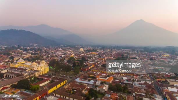 Aerial view, Antigua, Guatemala