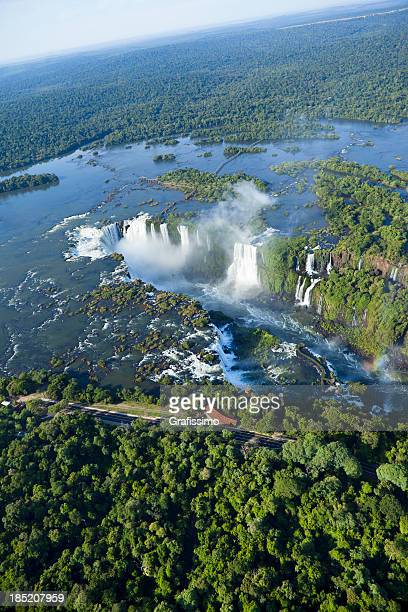 Vista aérea da Argentina Iguaçu cascatas Garganta del Diablo