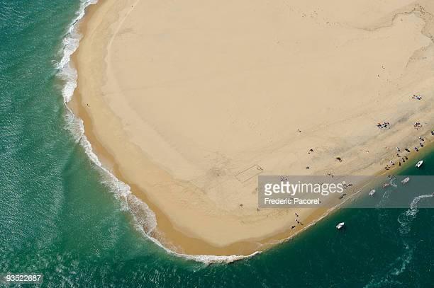 Aerial view, Arguin sandbank, Gironde, France