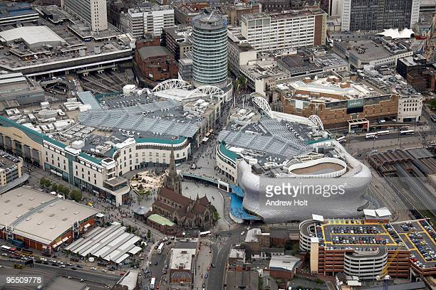 Aerial view Bullring and central Birmingham