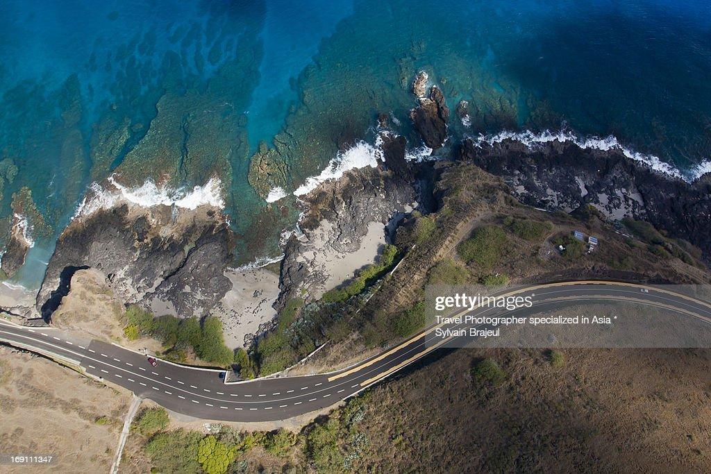 Aerial view Cap de la Houssaye - Reunion island